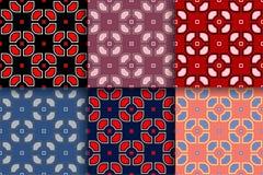 Abstract geometrisch seammlespatroon Gekleurde inzamelingsachtergronden Stock Afbeeldingen