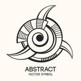 Abstract geometrisch symbool Concept verbeelding Vector illustratie Stock Illustratie