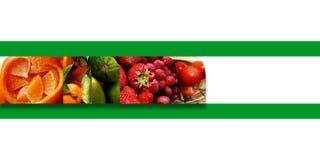 Abstract geometrisch vormenhoogtepunt van verse vruchten Stock Foto