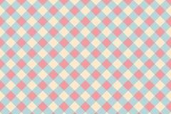 Abstract geometrisch vormpatroon met roze pastelkleurkleur Stock Foto