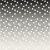 Abstract geometrisch zwart-wit gradiënt vierkant halftone patroon Royalty-vrije Stock Fotografie