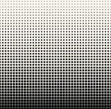 Abstract geometrisch zwart-wit gradiënt vierkant halftone patroon Royalty-vrije Stock Afbeelding