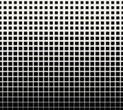 Abstract geometrisch zwart-wit gradiënt vierkant halftone patroon Stock Foto's