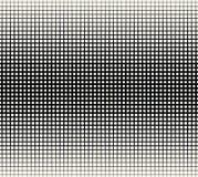 Abstract geometrisch zwart-wit gradiënt vierkant halftone patroon Stock Afbeeldingen