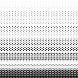 Abstract geometrisch zwart-wit grafisch halftone hexagon patroon Royalty-vrije Stock Afbeeldingen
