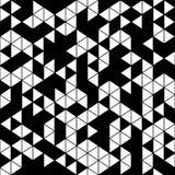 Abstract geometrisch zwart-wit naadloos patroon Stock Foto