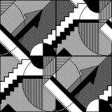 Abstract geometrisch zwart-wit patroon 6 stock illustratie