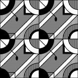 Abstract geometrisch zwart-wit patroon 7 Stock Illustratie