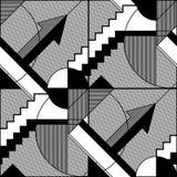 Abstract geometrisch zwart-wit patroon 6 vector illustratie