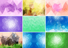 Abstract geometrix background colorful collection set. Stock Images