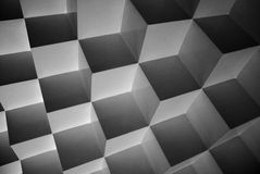 Abstract Geometry. Cubes form a beautiful illusion Royalty Free Stock Images