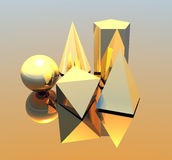 Abstract geometry. Abstract picture of geometry figures Royalty Free Stock Image