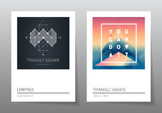 Abstract geometry backgrounds set. A4 format,  templates. Royalty Free Stock Photo