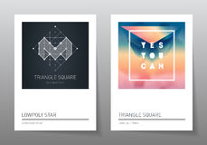 Abstract geometry backgrounds set. A4 format, vector templates. Stock Photo