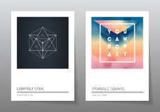 Abstract geometry backgrounds set. A4 fromat, vector templates. Royalty Free Stock Photography