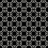 Abstract geometry black and white chain ornament deco art pattern Royalty Free Stock Photos
