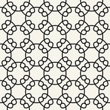 Abstract geometry black and white chain ornament deco art pattern Stock Photography