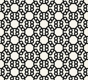 Abstract geometry black and white chain ornament deco art pattern Stock Photos