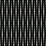 Abstract geometry black and white deco art halftone polka pattern. Background Royalty Free Stock Photo