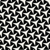 Abstract geometry black and white deco art  three point star pattern Stock Photo