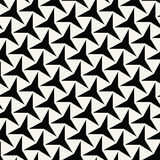 Abstract geometry black and white deco art  three point star pattern Stock Images
