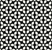Abstract geometry black and white floral ornament deco art pattern Royalty Free Stock Images