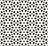 Abstract geometry black and white floral ornament deco art pattern Stock Photo