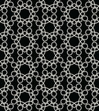 Abstract geometry black and white floral ornament deco art pattern Stock Photos