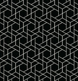 Abstract geometry black and white hipster fashion pillow hexagon grid pattern. Background Stock Photo