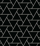 Abstract geometry black and white hipster fashion pillow triangle grid pattern. Background Stock Images