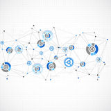 Abstract geometry blue color technology background. Stock Photo