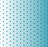 Abstract geometry blue hipster fashion halftone pattern Stock Images