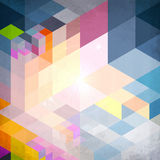 Abstract geometry blue vector grunge background Stock Photography