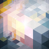 Abstract geometry blue vector grunge background Stock Photos