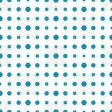 Abstract geometry blue and white deco art halftone polka pattern Stock Photography