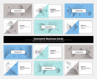 Abstract Geometry Business Cards 002 Stock Photos