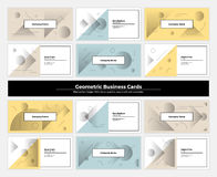 Abstract Geometry Business Cards 001 Stock Images