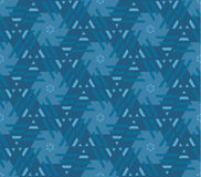 Abstract geometry floral motif. marine blue color abstract conce. Pt design. vector seamless pattern for fabric, wrapping paper, print and web surface design Stock Photos