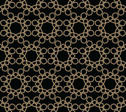 Abstract geometry gold floral ornament deco art pattern Royalty Free Stock Image