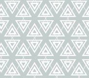 Abstract geometry grey vector seamless  pattern. Triangles and rhombus. Stock Images
