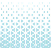 Abstract geometry hipster fashion blue pillow halftone triangle pattern Stock Photo
