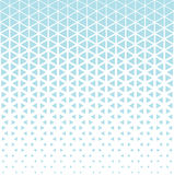 Abstract geometry hipster fashion blue pillow halftone triangle pattern Royalty Free Stock Photography