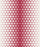 Abstract geometry hipster fashion red pillow halftone triangle pattern Royalty Free Stock Images