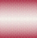Abstract geometry hipster fashion red pillow halftone triangle pattern Royalty Free Stock Photography