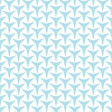 Abstract geometry light blue deco art  three point star pattern Stock Images