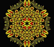 Abstract geometry of modern art. Mystical eastern mandala. floral kaleidoscope traditional design. Psychedelic symmetrical backgro stock illustration