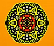 Abstract geometry of modern art. Mystical eastern mandala. floral kaleidoscope traditional design. Psychedelic symmetrical backgro. Und. Creative Print Template royalty free stock images