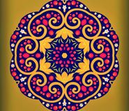 Abstract geometry of modern art. Mystical eastern mandala. floral kaleidoscope traditional design. Psychedelic symmetrical backgro. Und. Creative Print Template stock photo