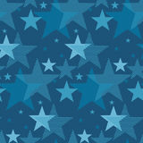 Abstract geometry night star motif. marine blue color abstract c. Oncept design. vector seamless pattern for fabric, wrapping paper, print and web surface design vector illustration