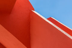 Abstract geometry of orange rugger bending Royalty Free Stock Photo